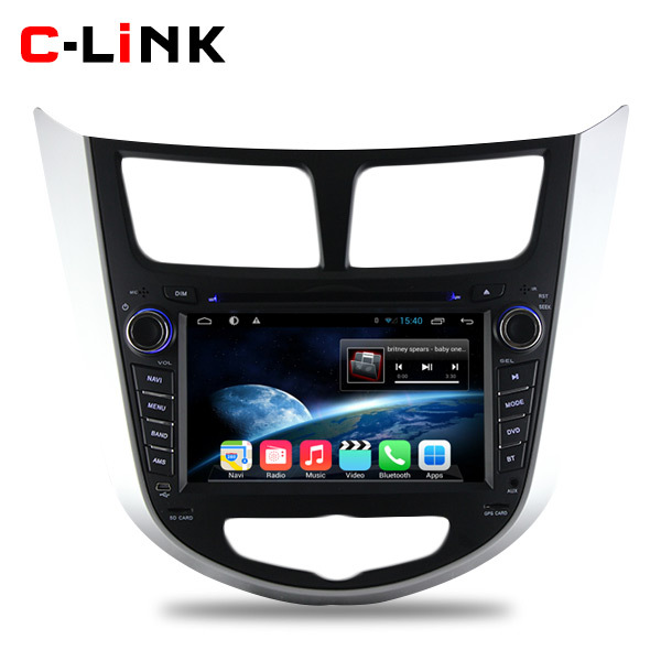 Pure Android 4.4.2 Dual Core 1.7GHz Car PC Video Player For Hyundai Verna Accent Solaris 2011 2012 With Radio GPS WIFI 3G TV BT(China (Mainland))