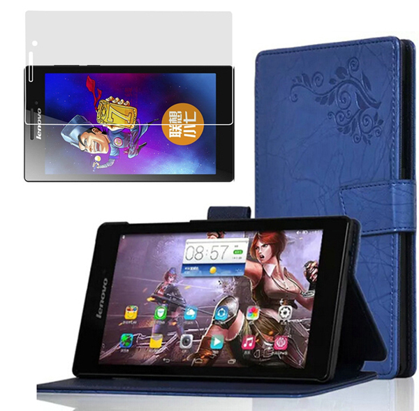 1x Screen Protector, New Ultra Slim Printing Pattern Folio Stand Cover Protective Leather Case For Lenovo Tab 2 A7-10F A7 10 10F<br><br>Aliexpress