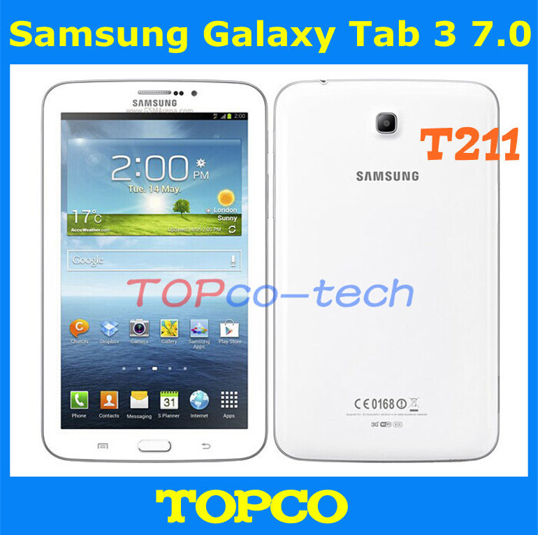 "Samsung Galaxy Tab 3 7.0 Original Unlocked Android T211 3G Dual-core Mobile Phone Tablet 7.0"" 3.2MP WIFI GPS 8GB Dropshipping(China (Mainland))"