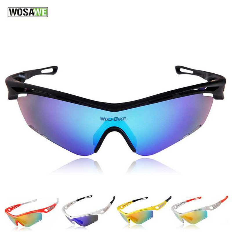 WOSAWE Professional Cycling Glasses Outdoor Sport Goggles Bicycle Windproof Anti-UV Sunglasses Man Mountain Bike Accessories(China (Mainland))