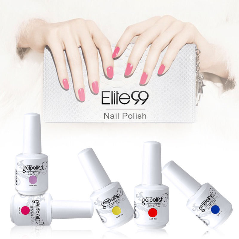 Elite99 UV Gel Nail Polish Top Quality Professional Origanic UV Bulider Special Offer 15ML Gel Color Choose Any 1(China (Mainland))