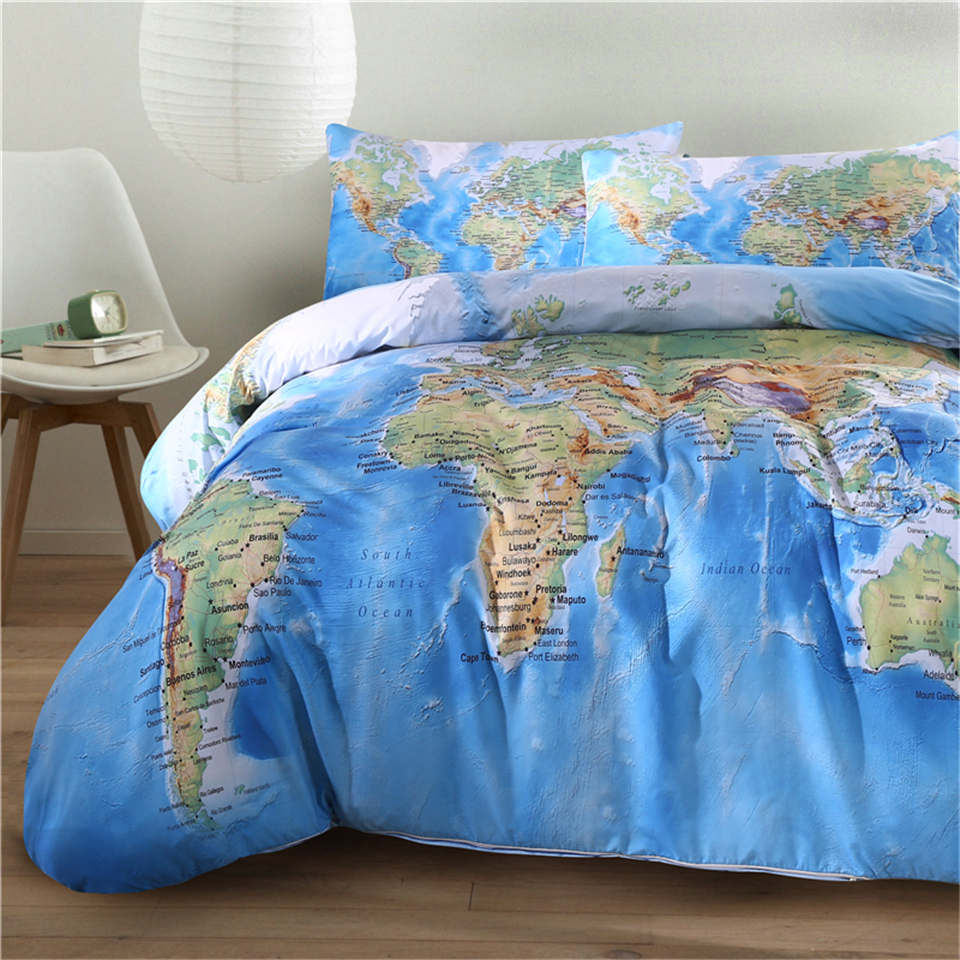 World Map Bedding Promotion Shop for Promotional World Map Bedding on Aliexpr