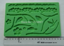 Free shipping flower and bird shaped 3D Silicone mold mould cake tools kitchen accessories