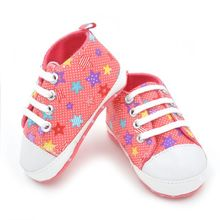 Baby Girls Boys Rainbow Canvas Shoes Soft First Walkers Casual Baby Shoes First Walkers