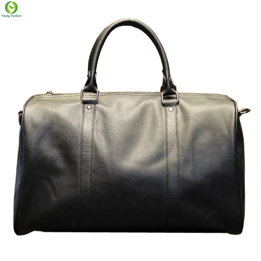 Fashion mens leather travel bag vintage duffle handbags large men business luggage bag with shoulder strap sac voyages hommes(China (Mainland))