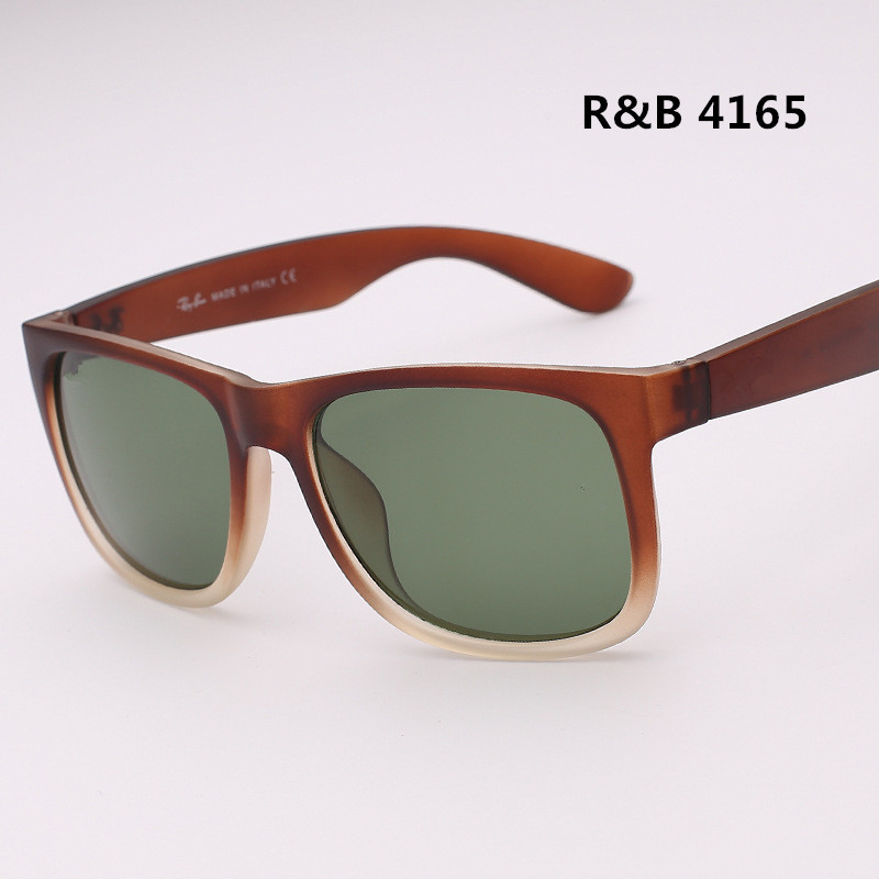 Squnare Retro Style 2015 New Arrival RB Justin Square Rubber Sunglasses Men Women Brand Designer Sun Glasses 4165 Oculos De Sol(China (Mainland))