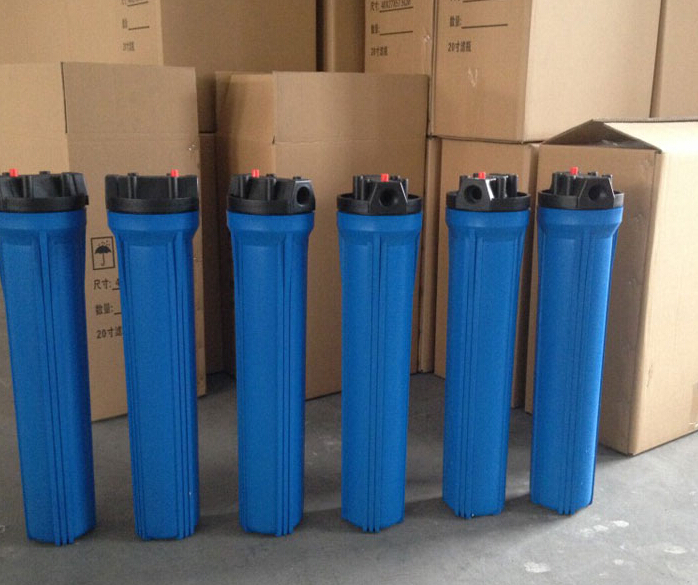 blue thick explosion-proof water purifier housing filter bottle accessories 20 inch 1/2 inch port  water inlet<br><br>Aliexpress