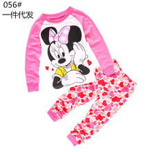 Buy New kids girl minnie clothing set kids pyjama cotton boy clothes 2-7 yrs sleepwear baby girl 100% cotton pijama infantil for $6.72 in AliExpress store