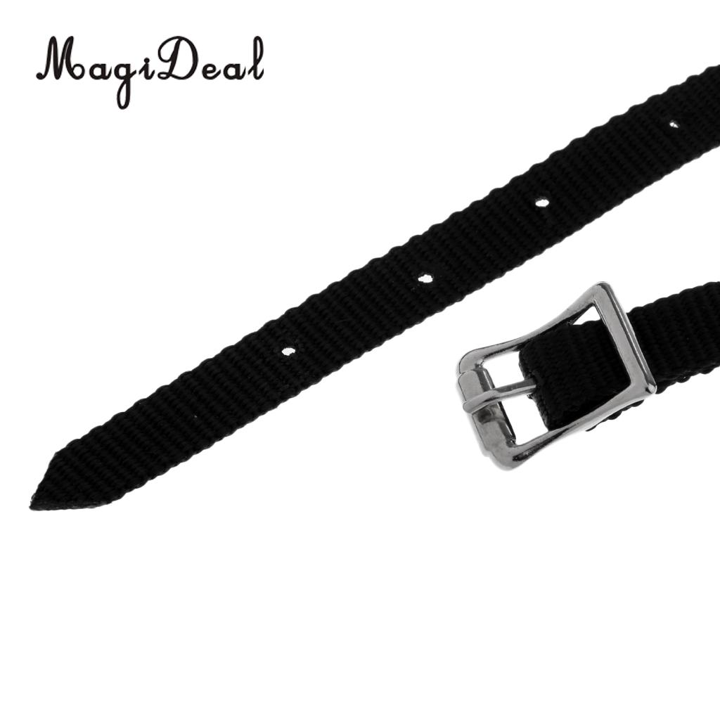 MagiDeal 4 pcs Thickened Weaved English Spurs Straps Horse Riding Equestrian