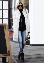 Faxu Fur Coat Black White 2016 Winter Women Outwear Casaco De Pele Falso Stand Collar Casual Long Mink Fur Coat Jacket X715(China (Mainland))