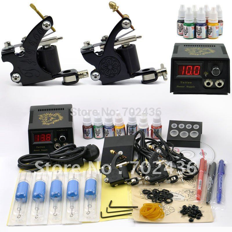 Buy professional tattoo set 2 tatoo guns for Tattoo gun prices