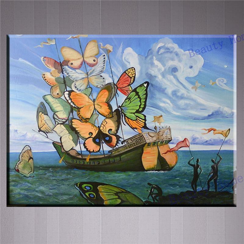 Salvador dali butterflies beurteilungen online einkaufen for Dekorative bilder wohnzimmer