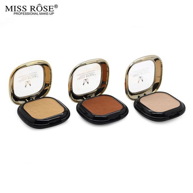 12 стилей мода макияж бренд мисс роуз контур пудра палитра с зеркалом корректор масло-контроля ...