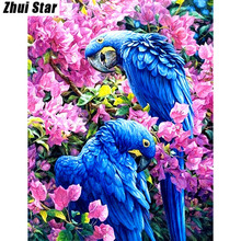 "Buy Full Square Diamond 5D DIY Diamond Painting ""parrot"" Embroidery Cross Stitch Rhinestone Mosaic Painting Decor Gift for $3.98 in AliExpress store"