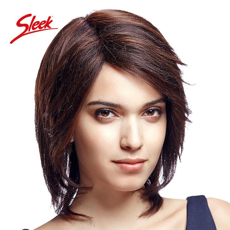 Sleek 100% Human Hair Wig Short Human Hair Wigs for Black Women, Aliexpress UK Brazilian Virgin Hair , U part Brazilian wigs(China (Mainland))