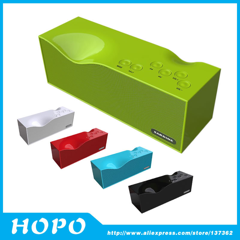 Portable Bluetooth wireless Hifi speaker Subwoofer mini loudspeaker with Mic FM radio TF port 1800mAh rechargable battery(China (Mainland))