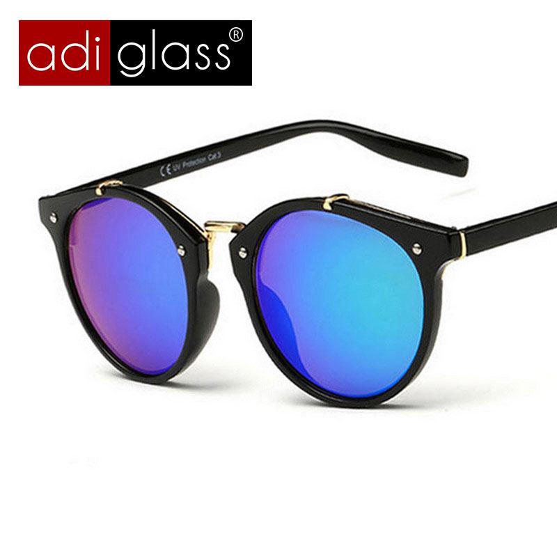 Adiglass Brand New Sunglasses Women Mens Vintage Round Sun Glasses Round Frame Glasses Oculos De Sol Feminino UV 400 Super Star(China (Mainland))