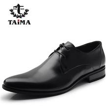 2016 Fashion 100% Genuine Leather Men Dress Shoes Luxury Men's Business Casual Shoes Classic Gentleman Shoes Brand TAIMA 40-45(China (Mainland))
