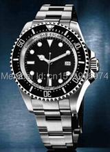 2014 nuevos hombres de regalos de lujo del reloj automático sea dweller acero inoxidable alta calidad aguas profundas vestido de hombre relojes