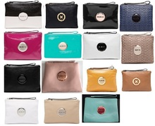 Mimco  clutch MIM MEDIUM pouch patent black seafoam white tandem Mimco Medium Lovely pouch Patent Black Rose Gold leather pink