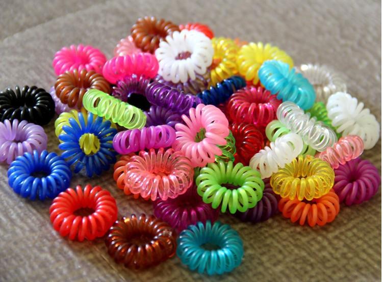 100pcs/Lot Candy Color Telephone Cord Headband Girl's Hair Ties Head band Hair Strap Hair Bands J006(China (Mainland))