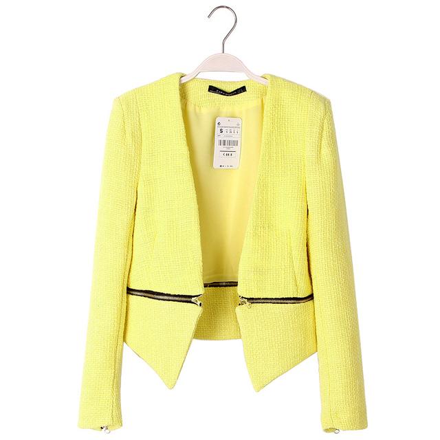 Veste jaune clair femme
