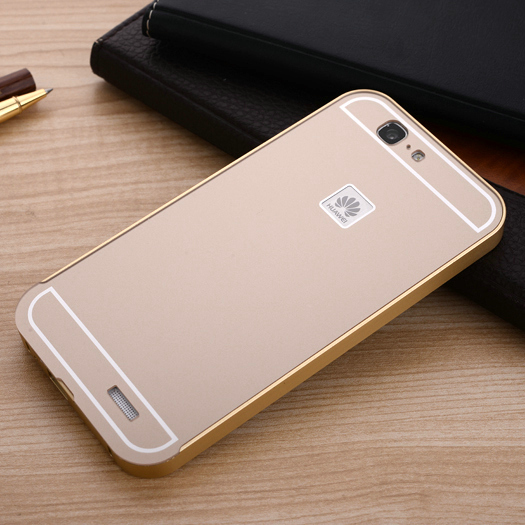 2015 Fashion Phone Case For Huawei Ascend G7 Slim Acrylic Back Cover + Aluminum Metal Frame Case Set(China (Mainland))