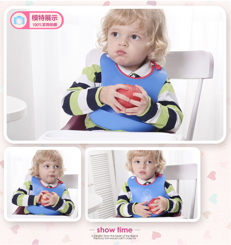 Wholesale New Style Baby Silicone Bib Stereo Disposable Bib Kids Bibs Children Pick Rice Pocket Cute Boys And Girls Bids 4 Color(China (Mainland))