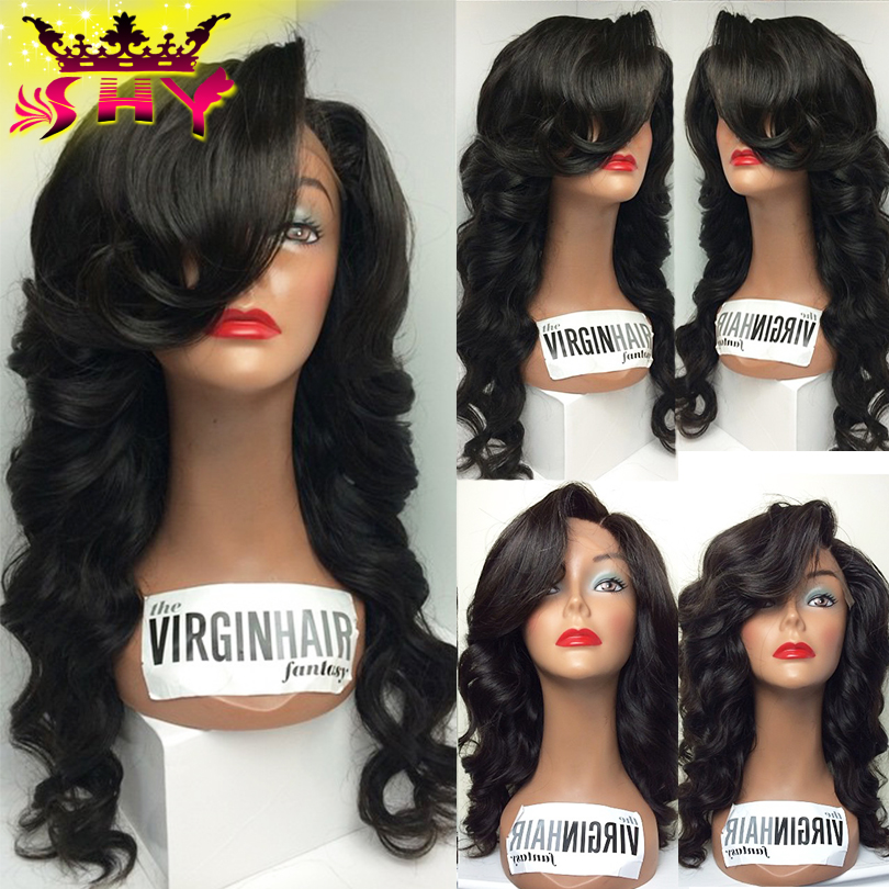 The Virgin Hair Fantasy Lace Front Human Hair Wigs Brazilian Virgin Body Wave Human Hair Wigs For Black Women Full Lace Wigs