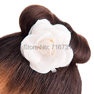Comprar elegante tela floral pinzas para for Decoraciones para el pelo