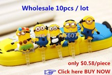 new 2015 cartoon anime minion despicable me 2 headset anti dust plug charm earphone jack cell phone accessories 3.5mm General(China (Mainland))