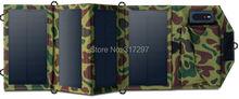 Высокое Качество 7.2 Вт Портативный Солнечное Зарядное Устройство для Мобильного Телефона iPhone Складной Моно Панели Солнечных Батарей + Складная Солнечная USB Зарядное зарядное устройство