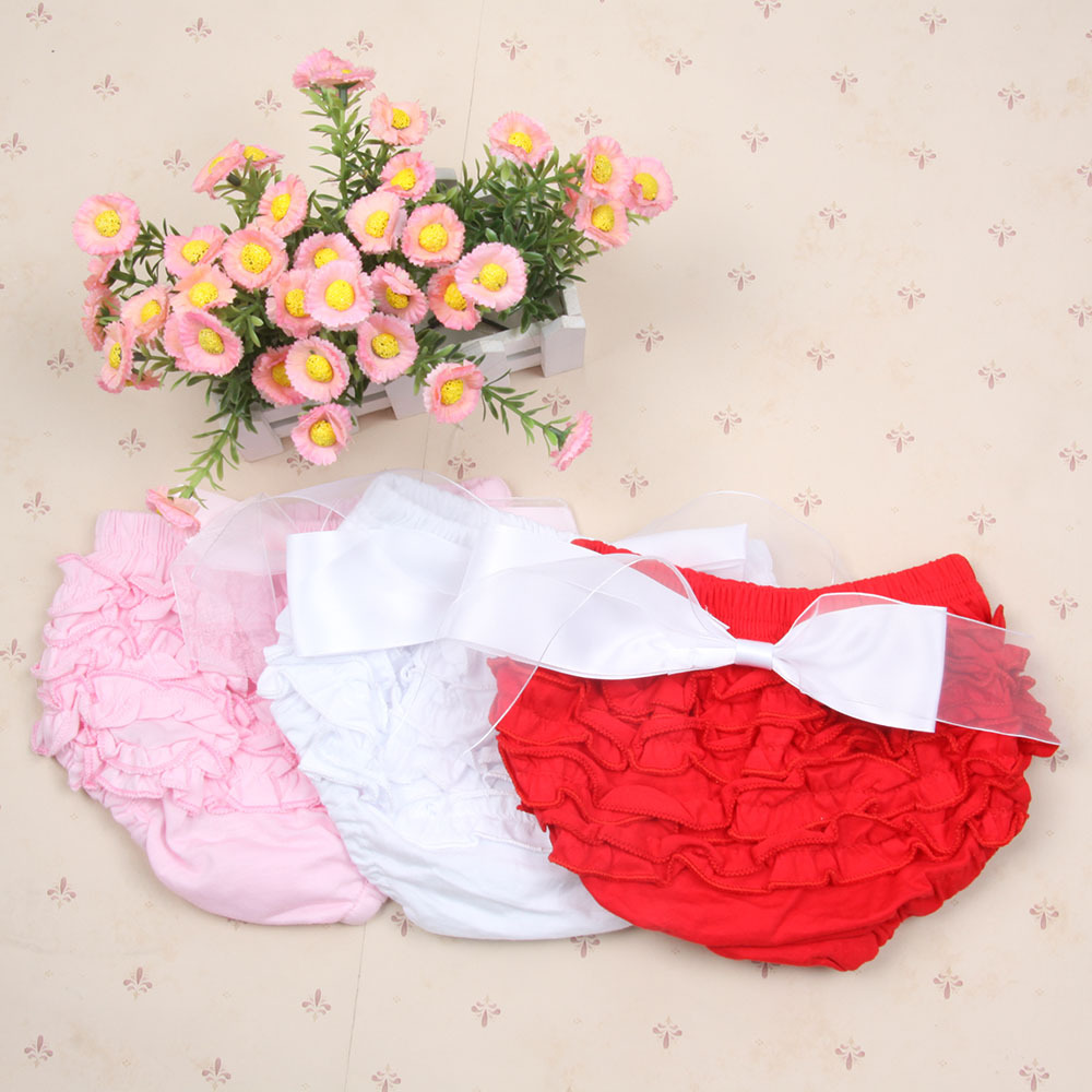 Princess Baby Girls Cute Bloomers Ruffle PP Pants Shorts Bow Nappy Diaper Cover 1-3Y Freeshipping<br><br>Aliexpress