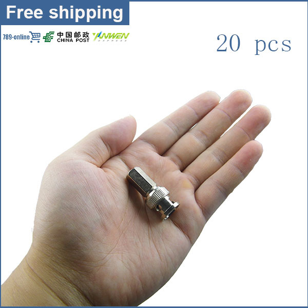 30pcs BNC Male RG59 Coax connector for CCTV Camera system easy installation CCTV accessories(China (Mainland))