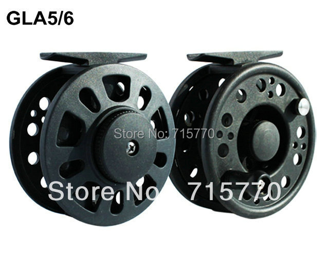 Graphite Fly Fishing Reel GLA5/6 80mm Free Shipping