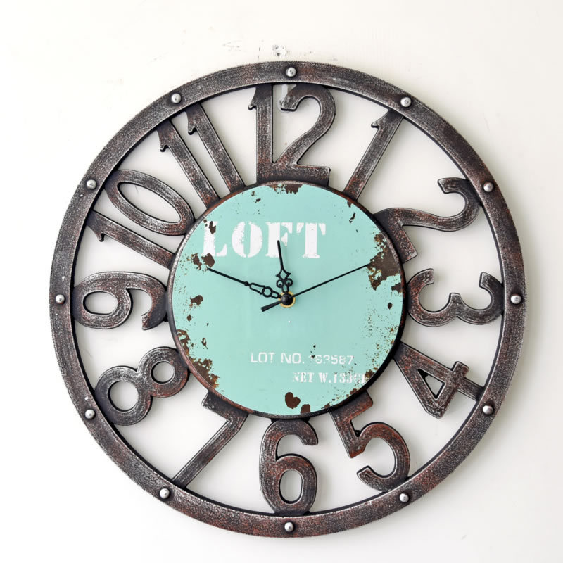 2016 New Arrival American Country Vintage Pendant Hollow Wooden Wall Clock Round Designer Wall Clock(China (Mainland))