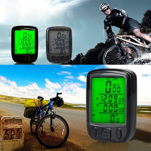 Hot Waterproof Digital Backlight Bicycle Computer Odometer Speedometer Clock Stopwatch Bike Computer Bicycle Accessories 4WP5