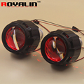 2 5 External Lights Lenses HID H1 Bi Xenon Projector Headlight Lens for H4 H7 Car