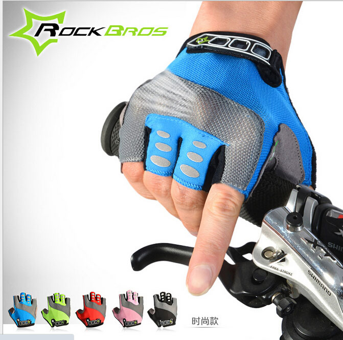 RockBros Mens Womens Summer Half Cycling Half Finger Comfortable Bike Gloves Short Gloves<br><br>Aliexpress