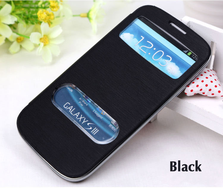 View Original Battery Housing Leather Case Flip Cover Shell Holster Samsung Galaxy S3 I9300 / Neo I9300i Duos - Shenzhen everyone trade co., LTD store