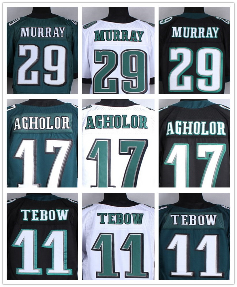 Philadelphia #29 DeMarco Murray jersey 100% Stitched Elite #17 Nelson Agholor jersey Authentic #11 tim tebow jersey Size M-XXXL(China (Mainland))