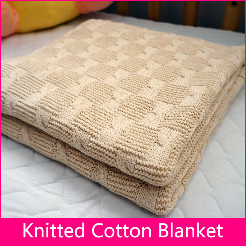 Pattern For Knitted Throw Blanket : Aliexpress.com : Buy Free Shipping Knitted baby blanket Throw blanket Super s...
