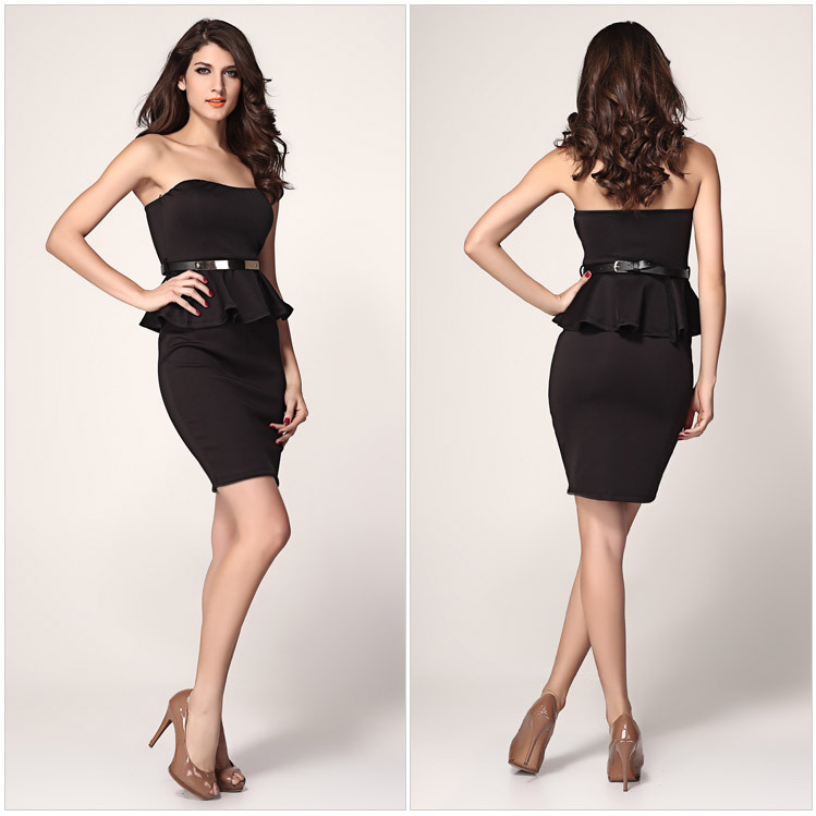 New Formal Work New Little Black Summer Style Sheath Sleveless Women Dress 2015 Alibaba Express Hot Sale (China (Mainland))