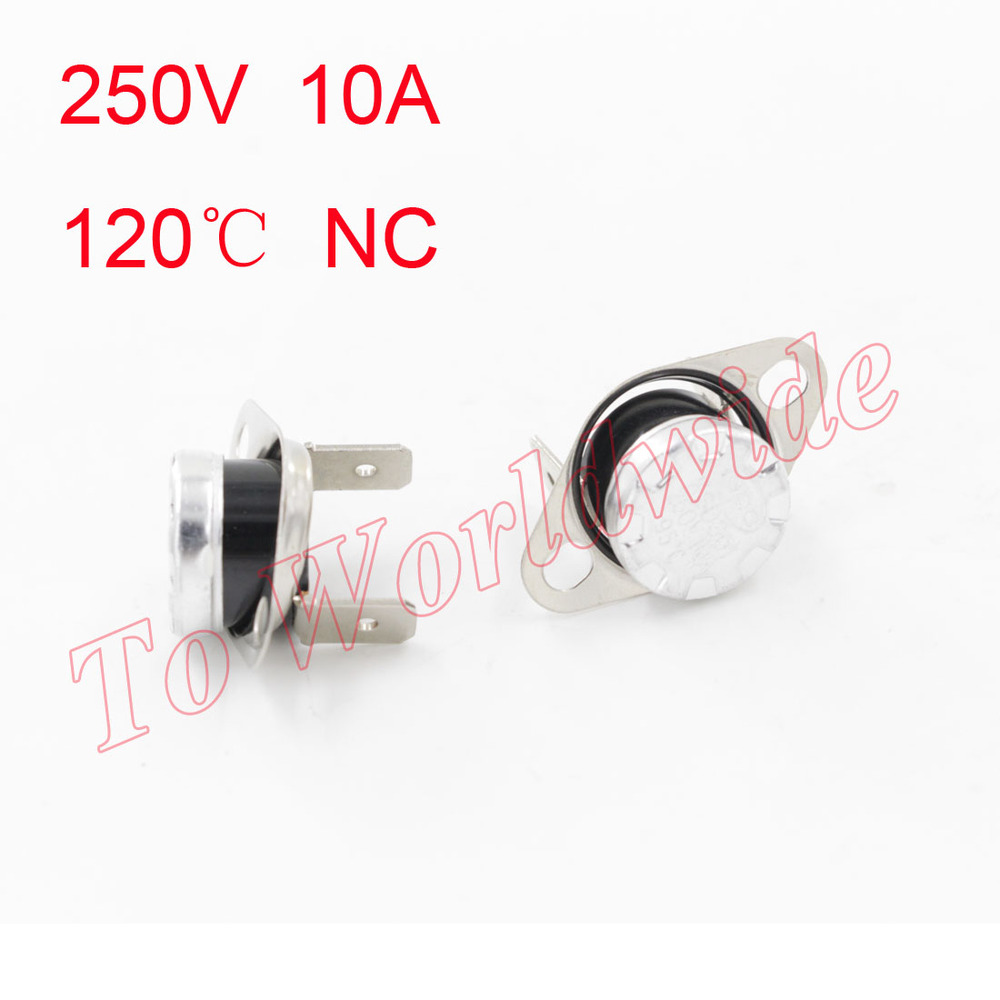 High Quality 120 Celsius NC Temperature Switch Ceramic Thermostat KSD301<br><br>Aliexpress