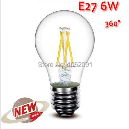 EE 1PCS E27 2W 4W 6W 8W 10W LED Chips LED Bulb Light Lamps Glass Globe Lamp Edison Filament bulb Warm/White 110V-240V High Power(China (Mainland))