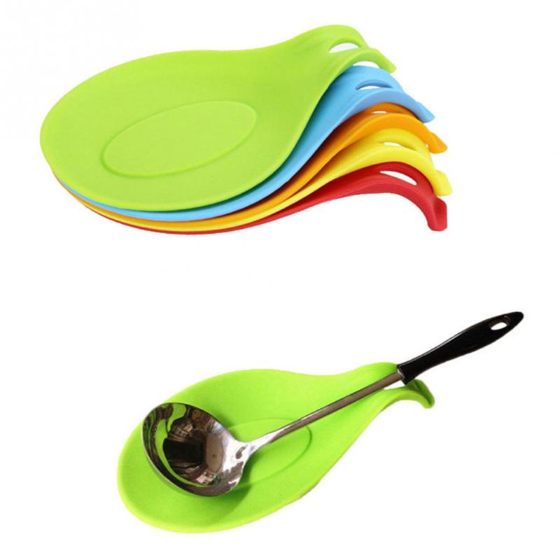 1Pcs Random Color Silicone Spoon Pad Insulation Mat Placemat Drink Glass Coaster Tray(China (Mainland))