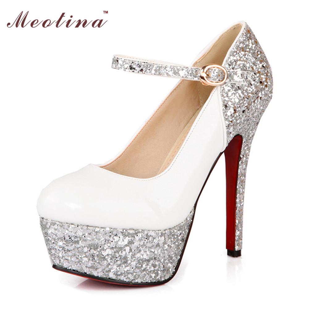 Platform Heels White