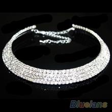 Hot Sale New Women Crystal Rhinestone Collar Necklace Choker Necklaces Wedding Birthday Jewelry 1JU7
