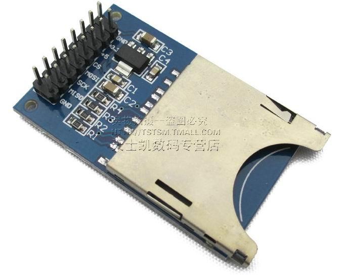 2PCS SD Card Module Slot Socket Reader for arduino ARM MCU Read And Write SG135-SZ(China (Mainland))