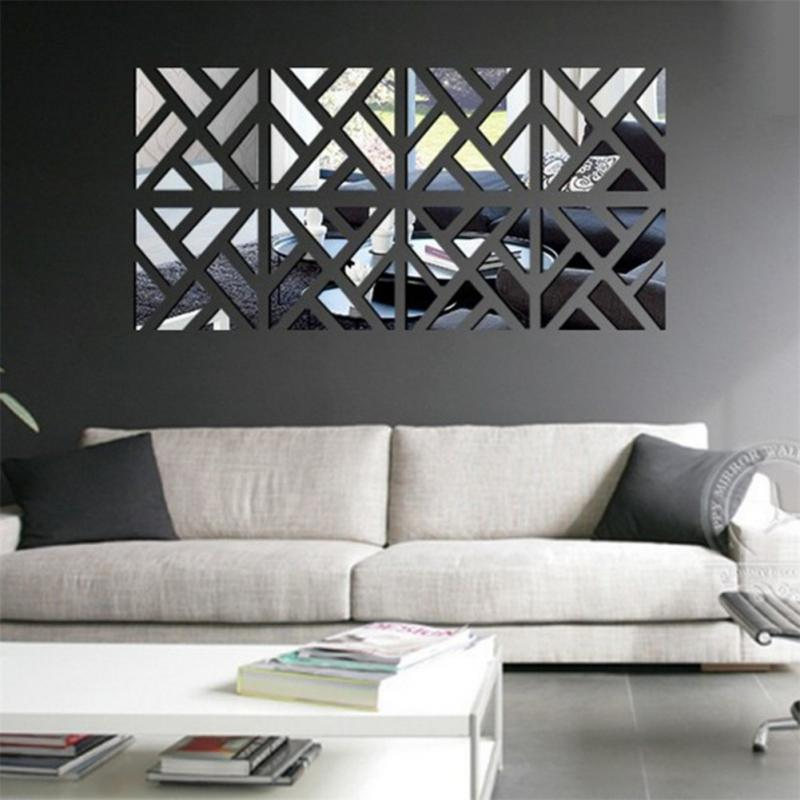 Surface fashion mirror wall stickers living room for Idee deco murale originale